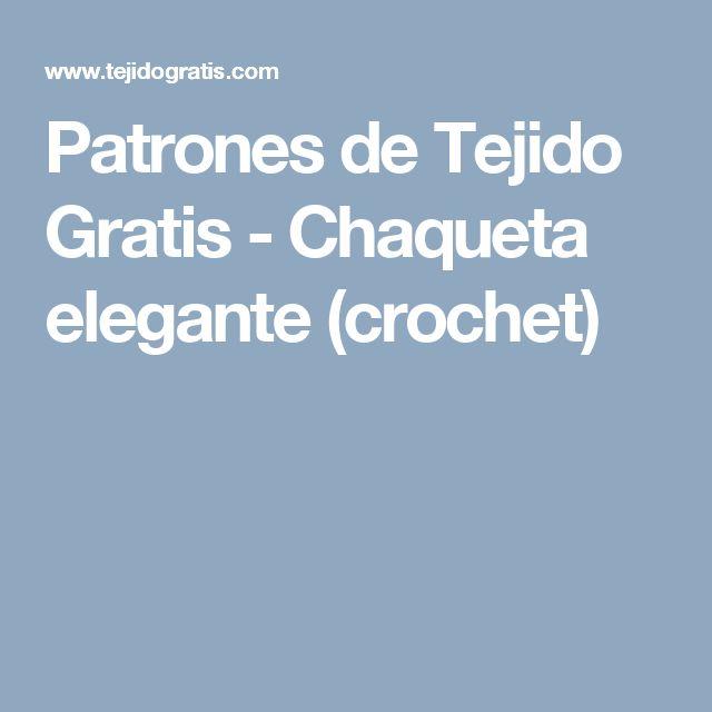 Patrones de Tejido Gratis - Chaqueta elegante (crochet)