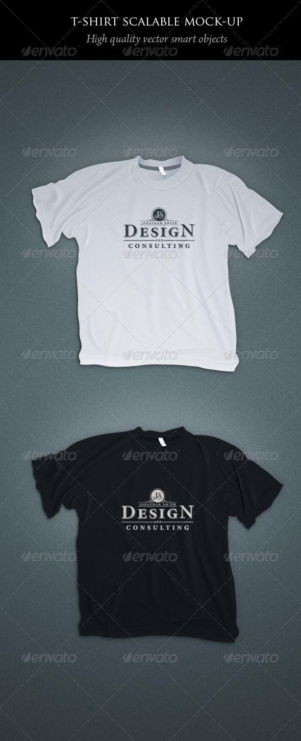 Scalable t shirt mockups