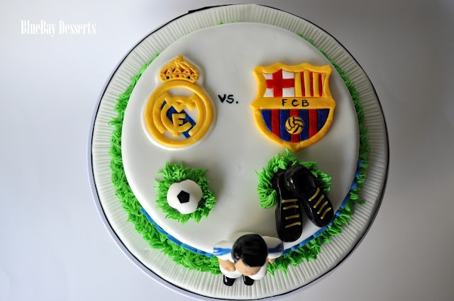 Real Madrid vs. Barca Birthday Cake