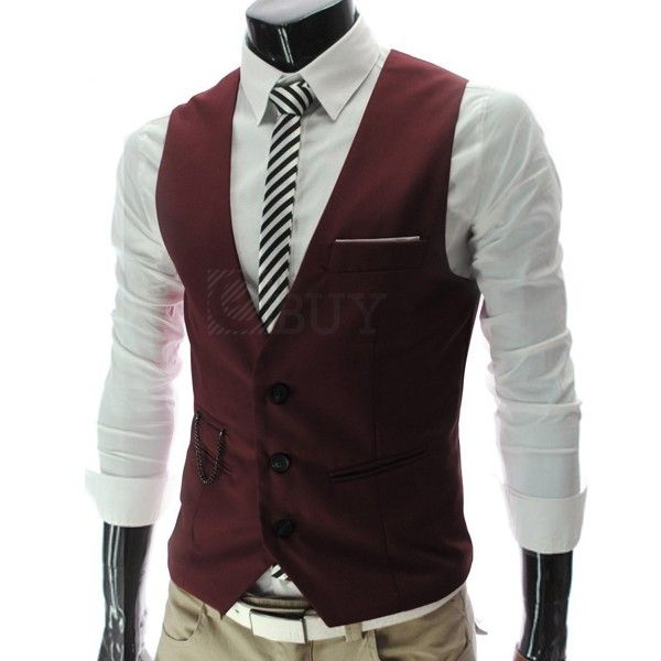 Uomo Gilet Panciotto Giacca Scollo V Slim Fit Vari Colori Moda | eBay