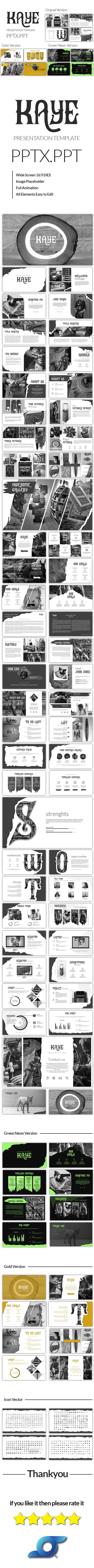 Kaye Powerpoint Template - Abstract #PowerPoint Templates