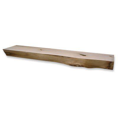 Kettle Moraine Hardwoods Smith Rustic Fireplace Mantel Shelf   6 FT.  NATURAL BASSWO