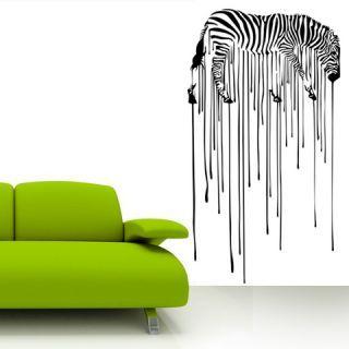 Наклейка по тематике от 2stick.ru.Изображение зебры с текучими полосками