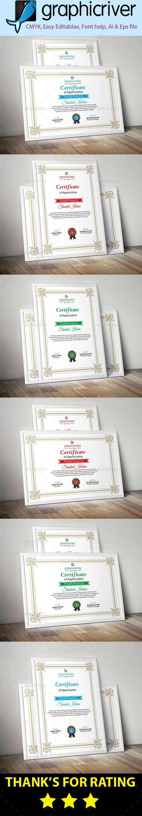 #Certificate (08) - Certificates #Stationery Download here: https://graphicriver.net/item/certificate-08/18627216?ref=alena994