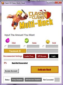 Multiple Uses of Latest Clash of Clans Hack Versions. Click here http://www.hackarade.com/hacks/clash-of-clans-hack/