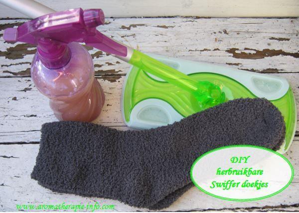 Maak je eigen herbruikbare swiffer doekjes en reinigingsmiddel. Milieuvriendelijk en effectief!