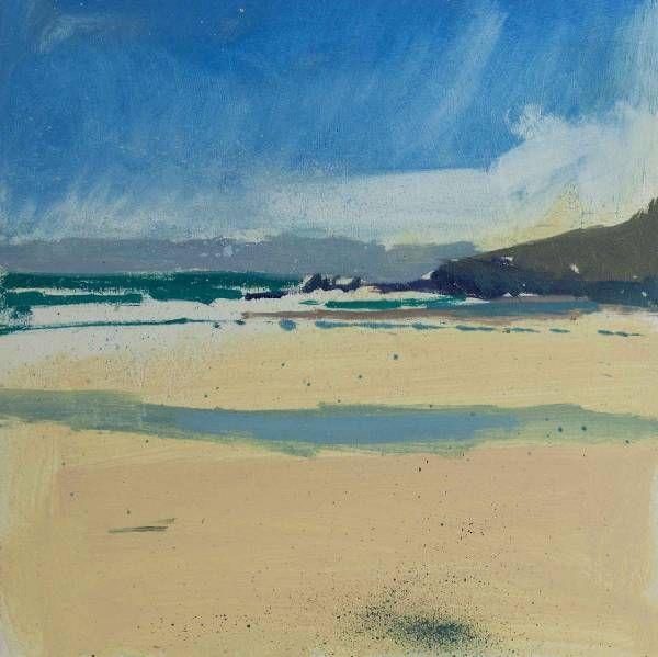 Towards the Island from Porthmeor | Lucie Bray
