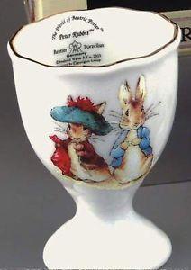 Beatrix Potter Peter Rabbit & Benjamin Bunny china egg cup NEW 15675