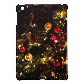 Christmas Tree Decorations Ornaments Lights iPad Mini Case