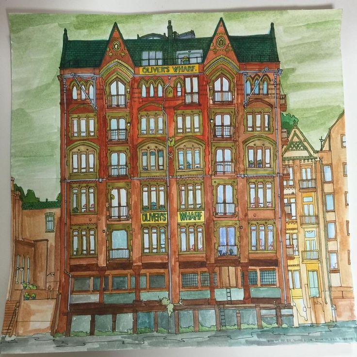Fantastic Cities Adult ColoringColouringColoring BooksPencil