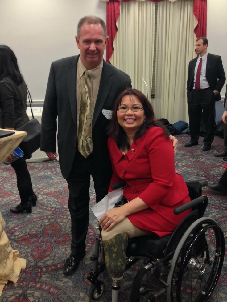 CMAP executive director Randy Blankenhorn with Congresswoman Tammy Duckworth at EPA Smart Growth Awards Capitol Hill reception.