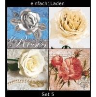 Servietten-Set 5 * Motivservietten * Serviettentechnik - einfach1Laden.de - Ihr Onlineshop für Geschenke und Wohnaccessoires!