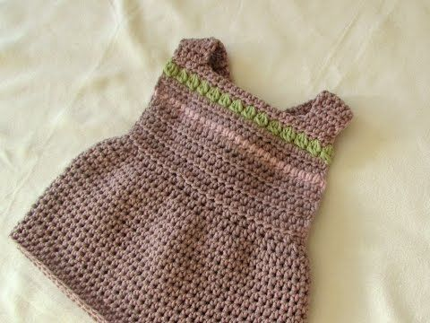 How to crochet a pretty pinafore dress - any size (baby to adult) - YouTube