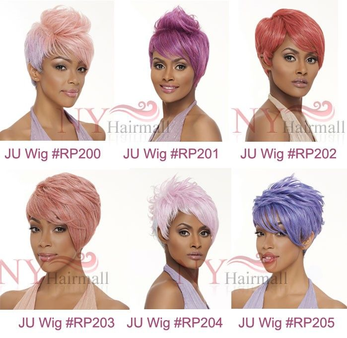 Harlem 125 Ju Collection High Temp Fiber Wig - JU335 (Tyra) - Silver & Pastel Colors - Wigs By Colors - TRENDS