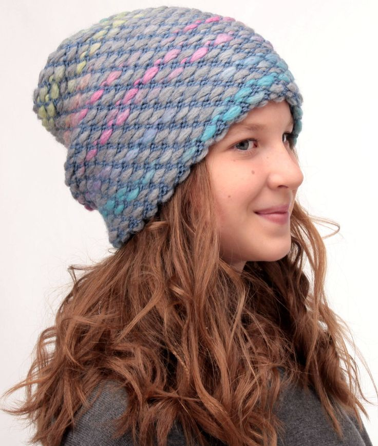 Chunky slouchy  oversized hat, teens slouchy beanie, knit hipster beanie, winter chunky hat, winter womens beanie, casual hat, slouchy hat by HatsCats on Etsy https://www.etsy.com/uk/listing/537534567/chunky-slouchy-oversized-hat-teens
