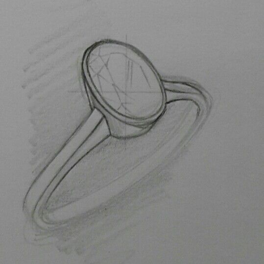 Oval solitaire Tube Setting