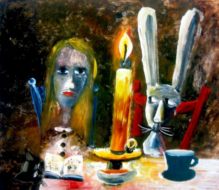 Charles Blackman ~ Alice by Candlelight