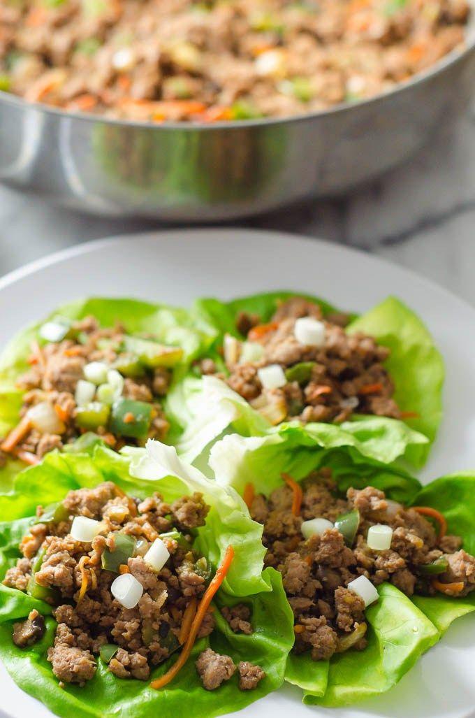 Healthy Turkey Lettuce Wraps