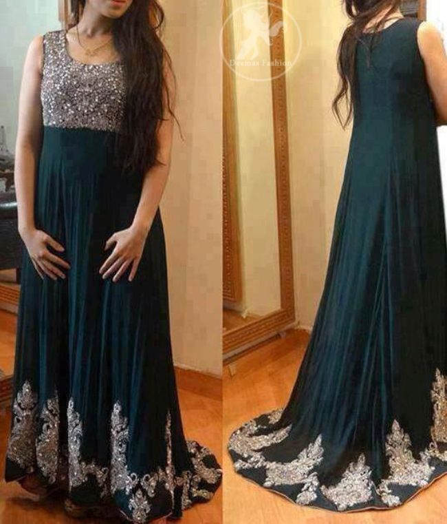 Pakistani Maxi Dresses Designs | Summer Maxi Dresses 2015 for Girls