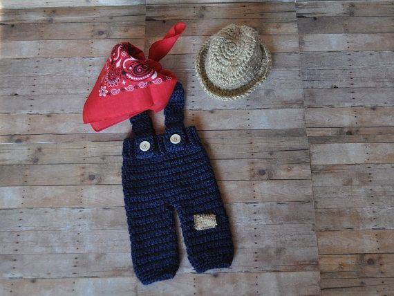 Newborn Farmer Outfit by YarnOverByAshley on Etsy