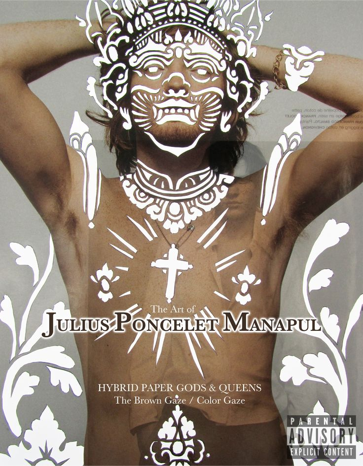 Paper Art cutout from gay magazine by contemporary artist Julius Poncelet Manapul. Book available to purchase at Blurb