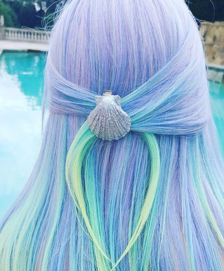 Absolut Tolle Mermaid-Haare! Mit Muschel Haarklammer – super schön! – http://toptrendspint-fly.blackjumpsuitoutfit.tk