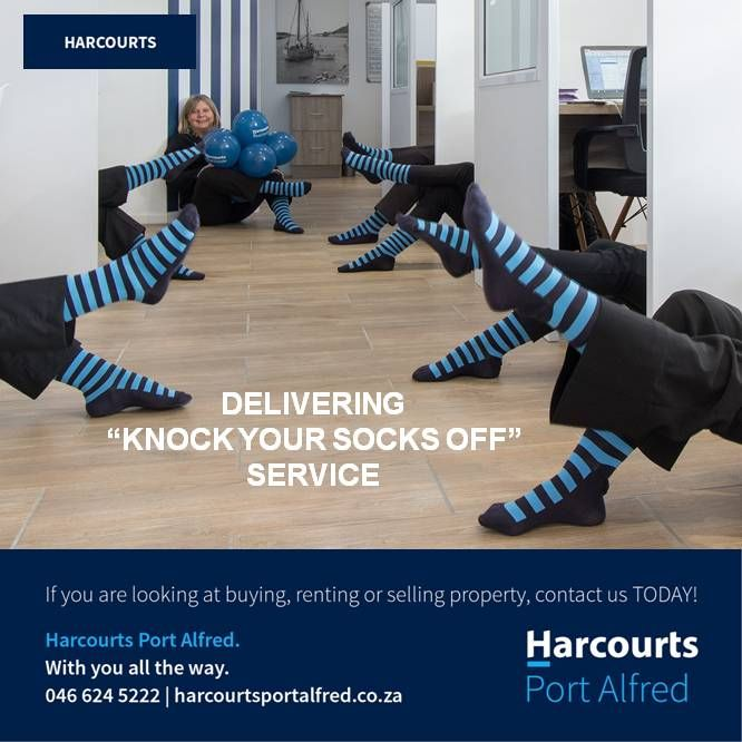 Let Us Blow Your Socks Off With Our Service #Harcourts #PortAlfred #BuyingAHome #WhereServiceCounts #ServiceDelivery #HereWeAre #BetterInBlue
