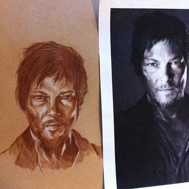 The Walking Dead. Four! #twd #thewalkingdead #zombies #portrait #portraiture #art #normanreedus #daryldixon