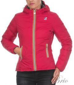 Giacca K-WAY Dark red-steel (rosso) da donna double. Slim fit (vestibilità slim).