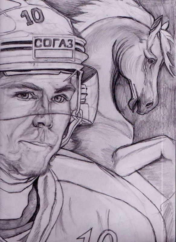 Viktor Tichonov kresba ceruzkou