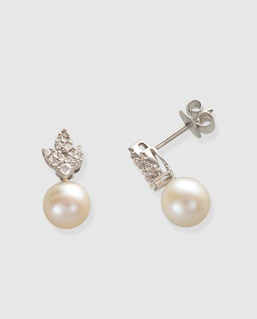3c130345e131 Pendientes My Wedding con diamantes y perla in 2019 | Novias ...