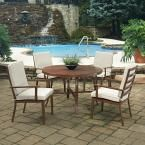 Home Styles Key West Chocolate Brown 5-Piece Extruded Aluminum Outdoor Dining Set with Beige Cushions
