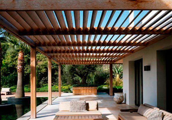 P 233 Rgola En Terraza O Roof Garden Pergolas De Madera