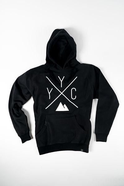 YYC Calgary Hoody in BLACK from Local Laundry, available at Labrador Supply Co.