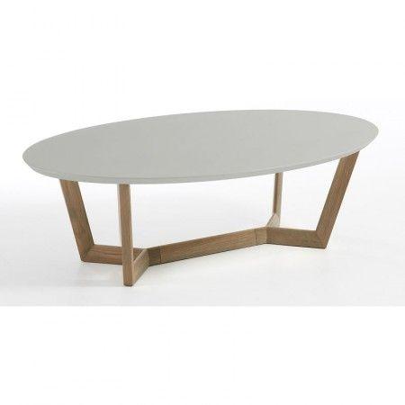 Grijze salontafel met eiken onderstel, grappig Rusticowonen Eibergen heeft deze ook :-)