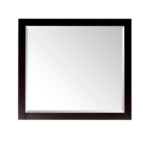 Lexington Light Espresso 36 X 32 Rectangular Mirror