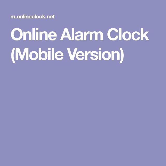 Online Alarm Clock (Mobile Version)