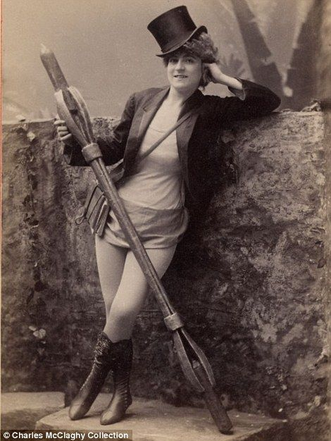 Burlesque beauties of the 1890s: Stunning vintage photos of 'loose women in tights' who perfected the art of the tease