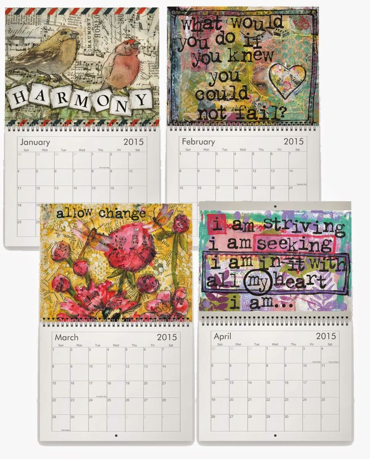 Calendar Inspiration 2015 : Ideas about monthly calendar on pinterest