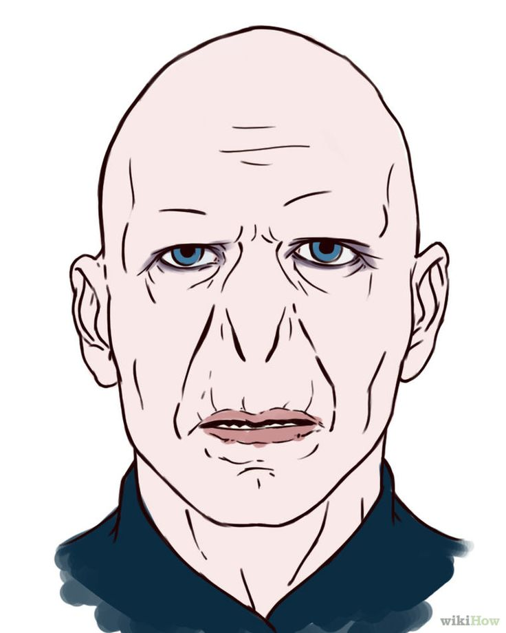 voldemort draw potter harry drawing easy cartoon wikihow step drawings characters slytherin steps coloring tom pages riddle lord sketch theme