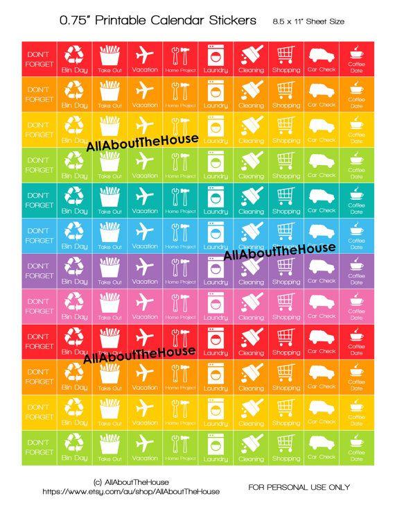 Calendar Planner Stickers : Best calendar stickers ideas on pinterest erin