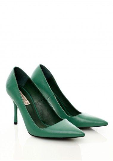 SEPALA - Pantofi piele verde #stiletto #leather #shoes #moja #sepala