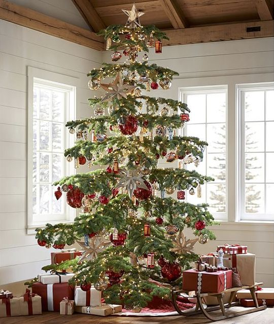 rustic christmas tree ideas these treasures for your tree are blown of mercury glass 30227