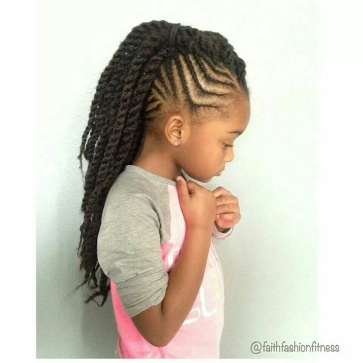 kid hair braiding styles braids with twisted mohawk ponytail braids 5042