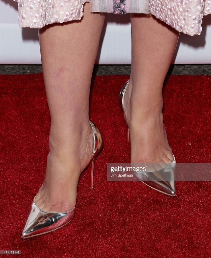 Actress Debi Mazar, shoe detail, attends the 2015 Tribeca Film Festival closing night: 'GoodFellas' at Beacon Theatre on April 25, 2015 in New York City.
