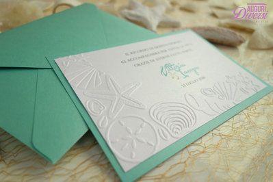 Biglietto di ringraziamento matrimonio (in coordinato con partecipazione STELLA MARINA) www.facebook.com/AuguriDiversi