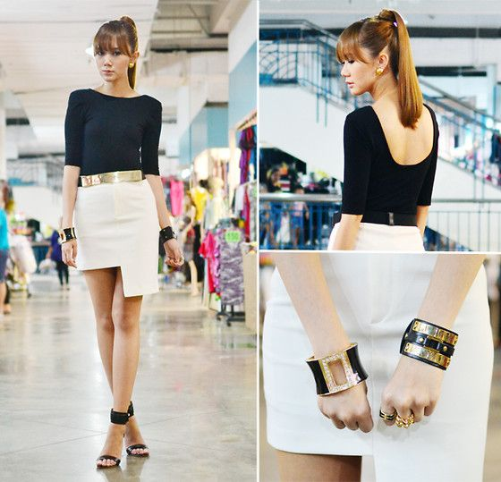 Sleek Perfection (by Camille Co) http://lookbook.nu/look/3761521-Sleek-Perfection Love the simple look with Gold/ black accessories