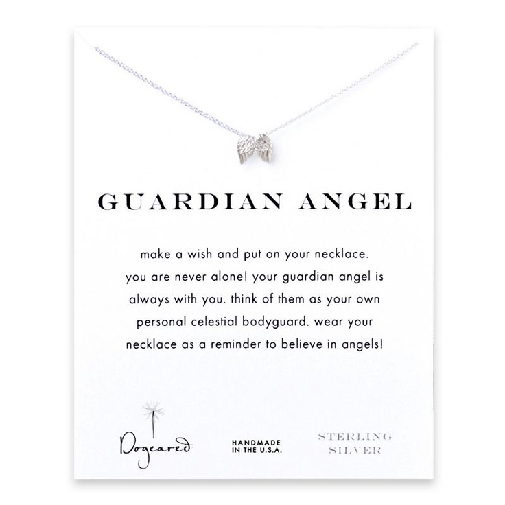Dogeared Silver Guardian Angel Necklace at aquaruby.com