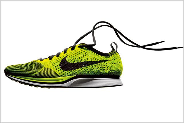 NIke Flyknit: Shoes knit like socks. Made with feather light polyester yarn and supportive cables which loosen and contract with your foot.via fastcodesign #Running_Shoes #Nike #Flyknit