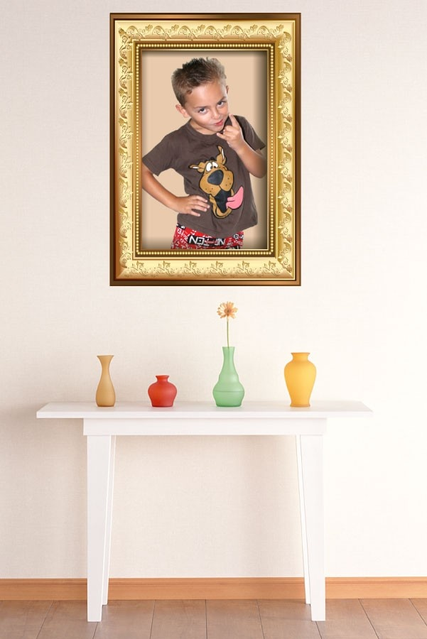 """Personalised Gold Photo Frame """"Happy Snaps"""" MOVABLE Wall Decals, $9.99 (http://www.wholesaleprinters.com.au/personalised-gold-photo-frame-happy-snaps-wall-decals)"""
